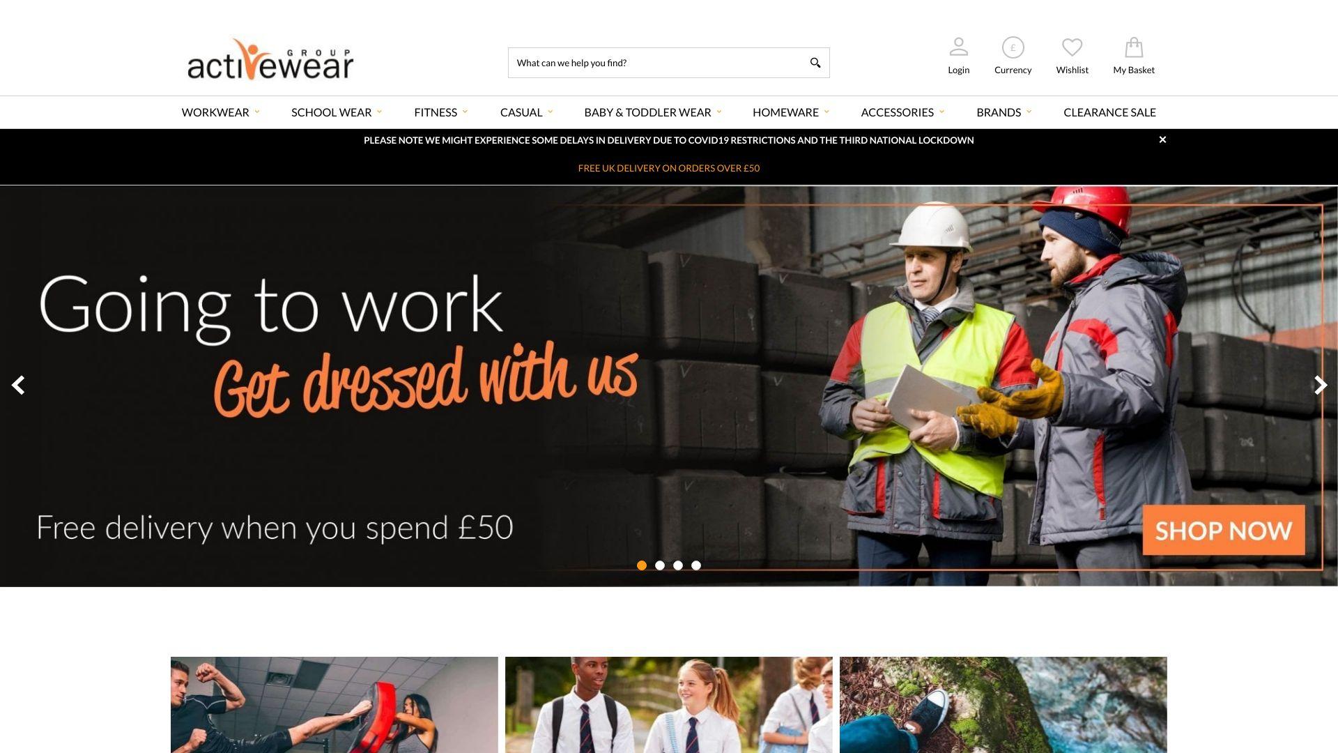 Activewear Group screenshot