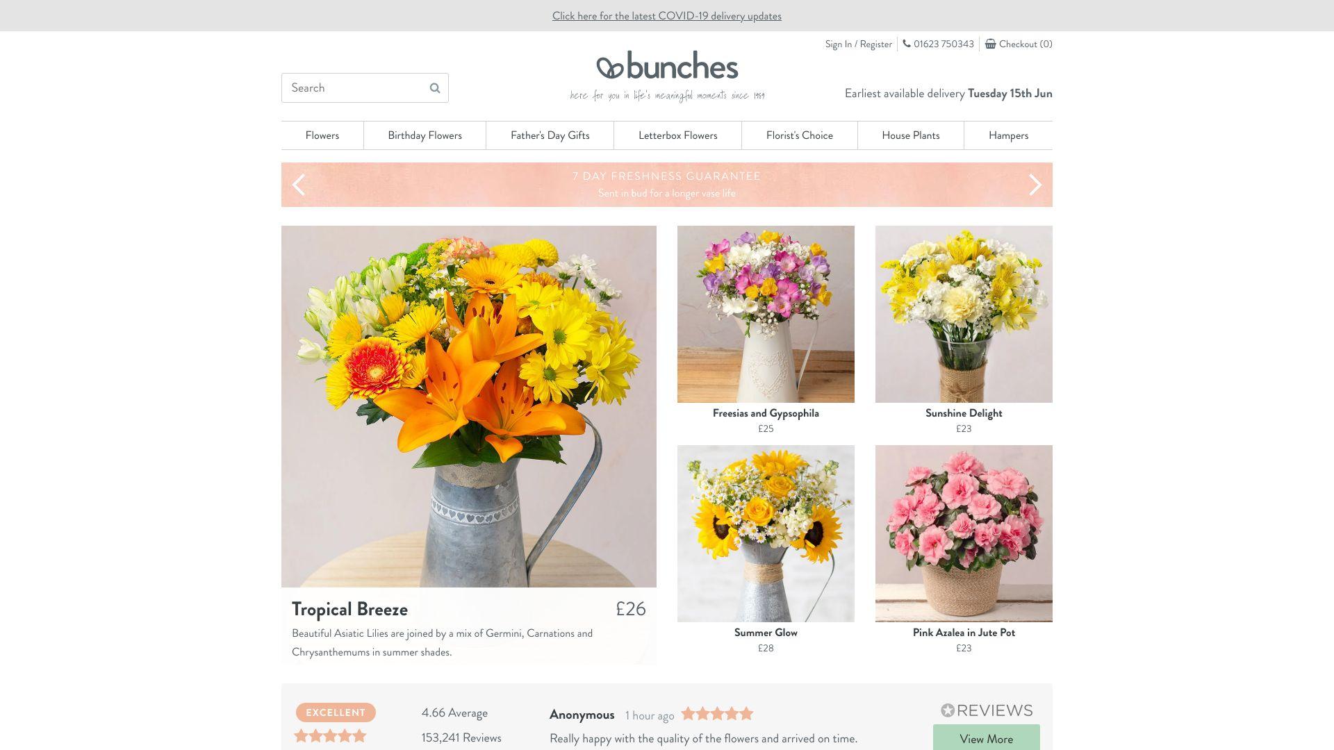 Bunches screenshot