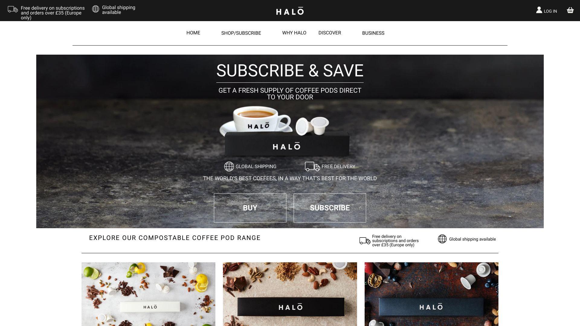 Halo Coffee screenshot