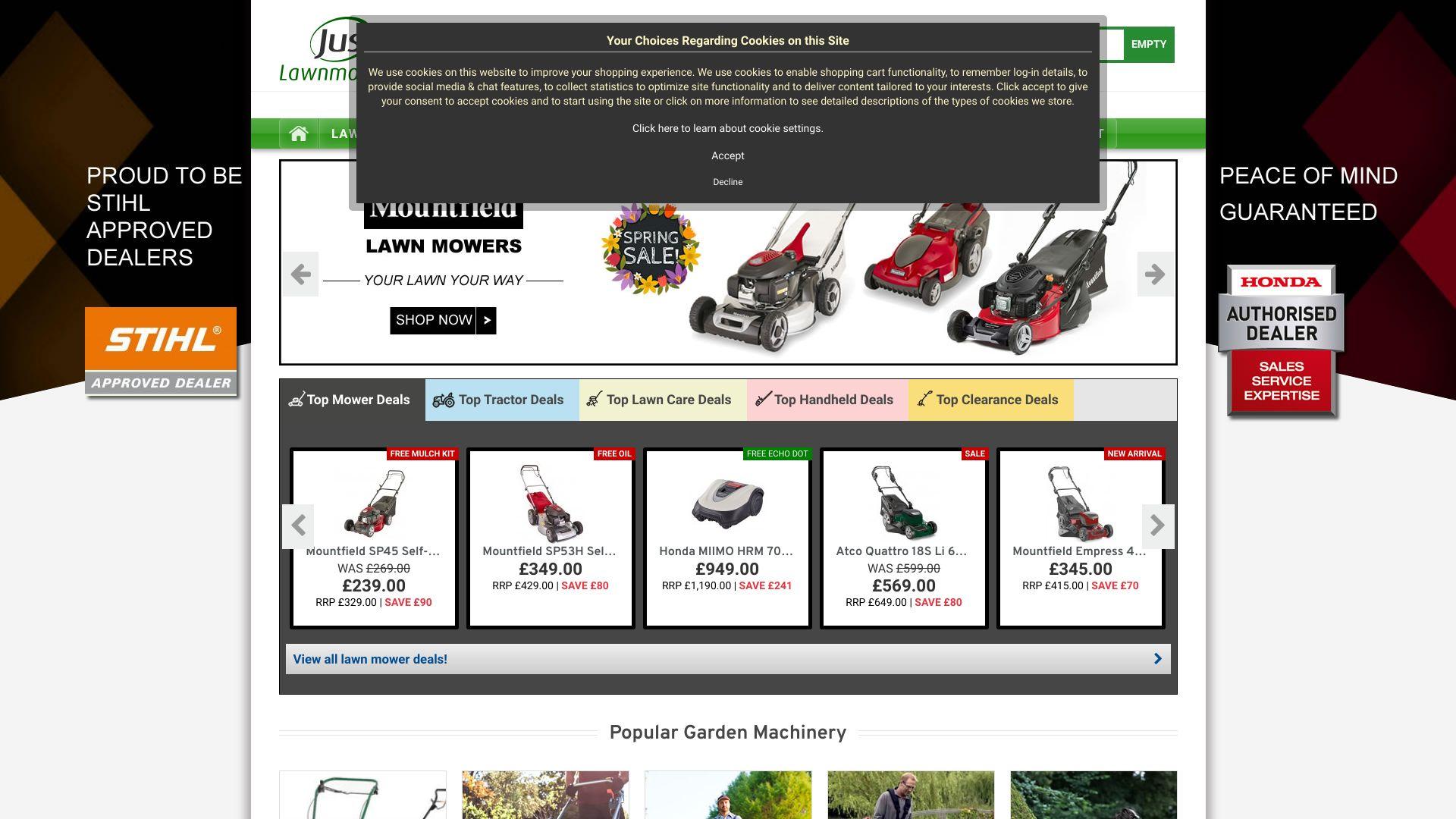 Just Lawnmowers screenshot
