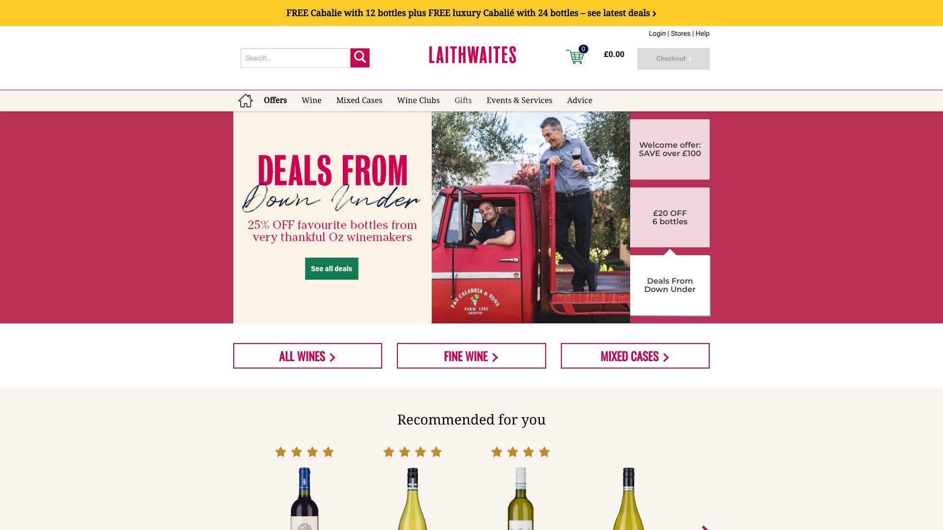 Laithwaites Wine screenshot