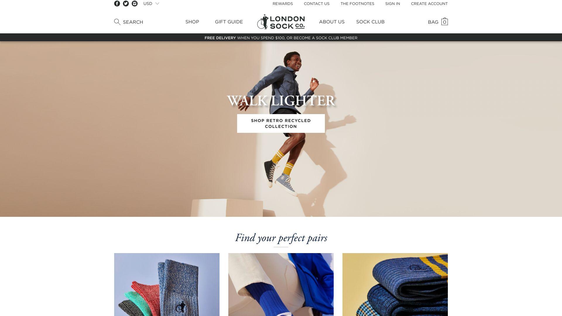London Sock Company screenshot
