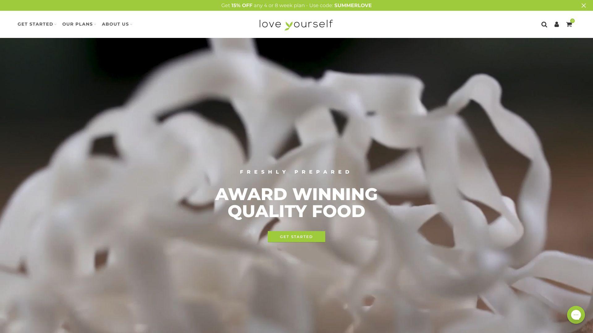 Love Yourself Meals screenshot