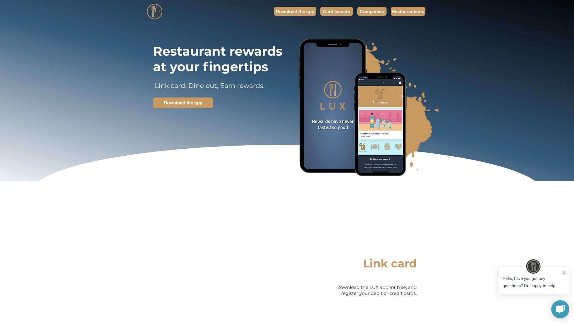 LUX Rewards screenshot
