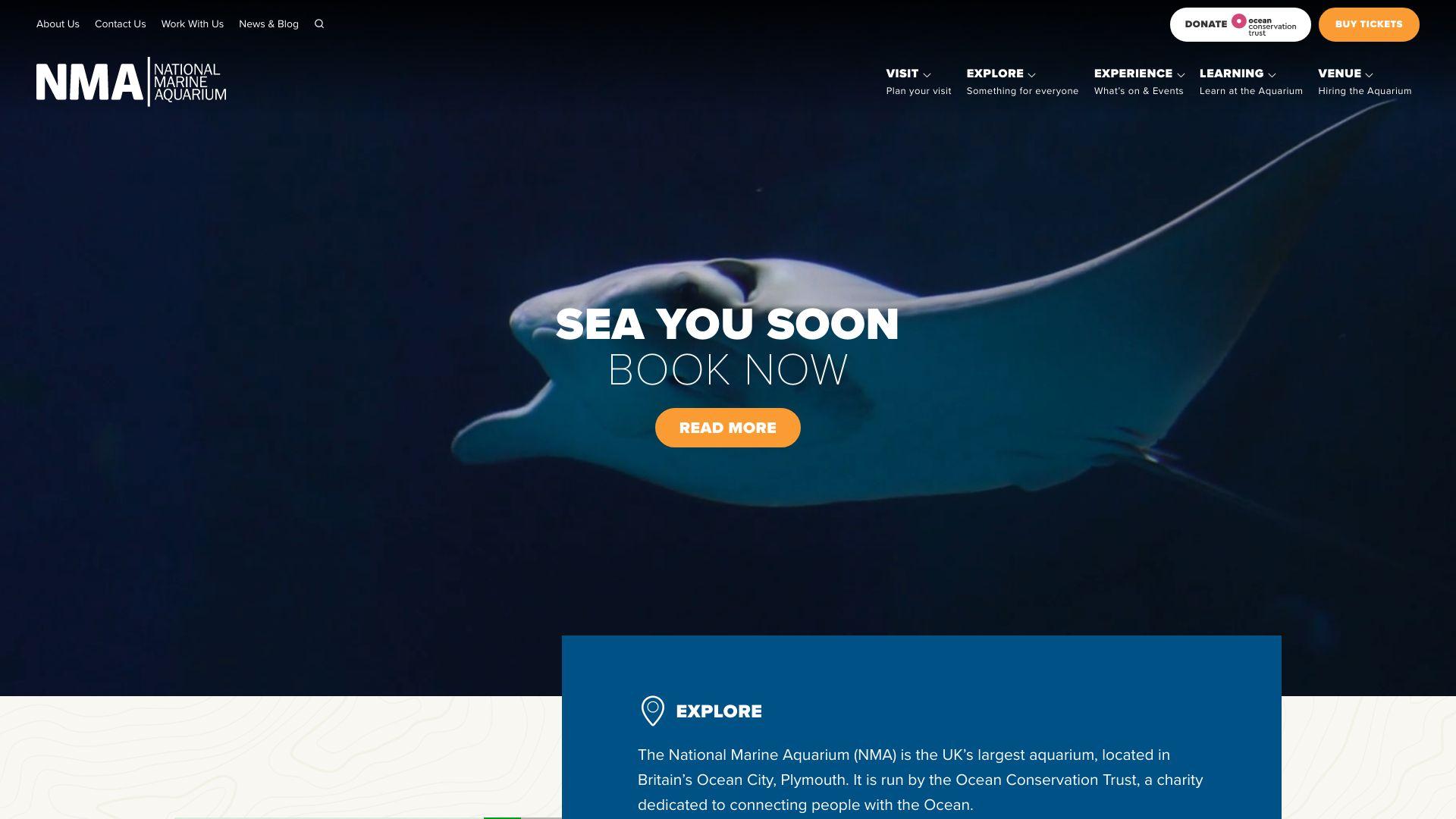 National Marine Aquarium screenshot