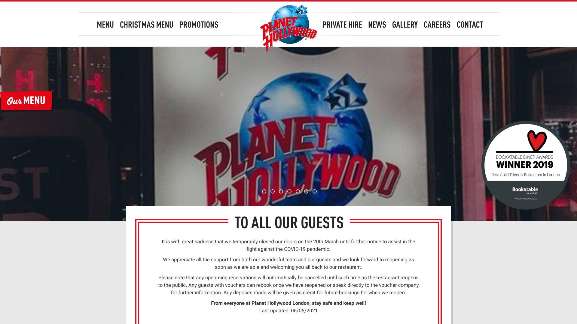 Planet Hollywood London screenshot