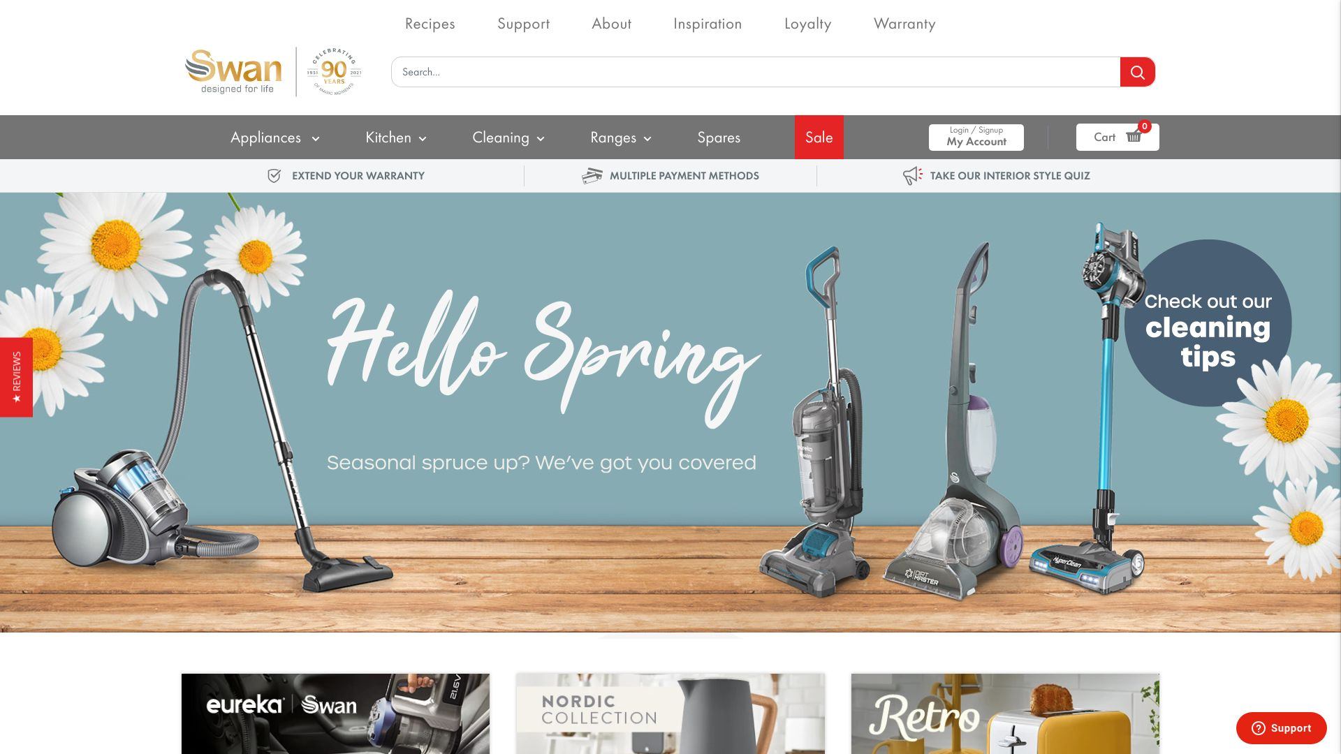 Swan Products screenshot