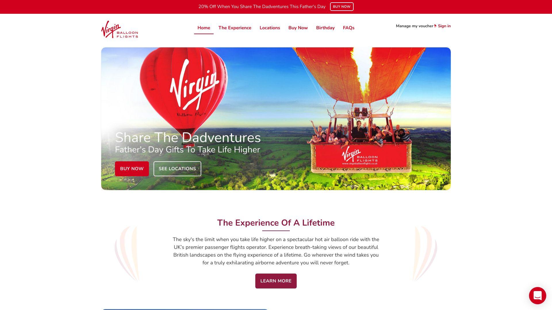 Virgin Balloon Flights screenshot