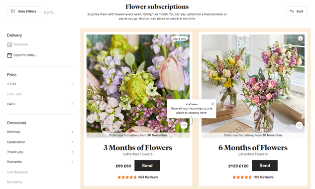 Bloom & Wild Flower Subscriptions