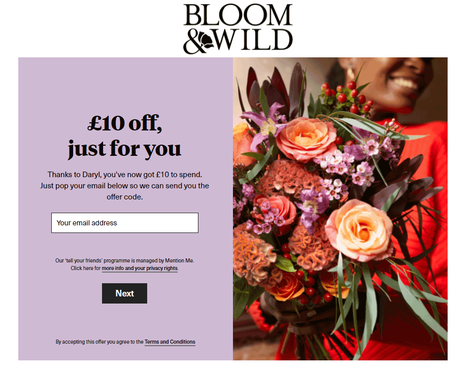 Bloom & Wild Tell Your Friends